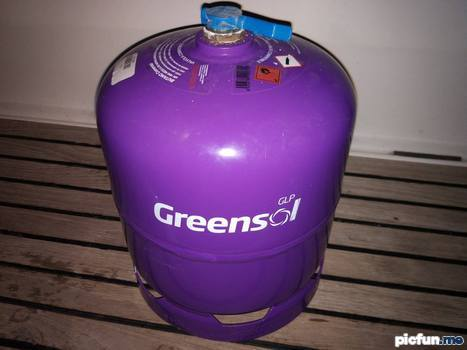 Greensol gas bottles